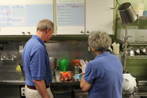 Bob and Vivian selecting molds for ice toys