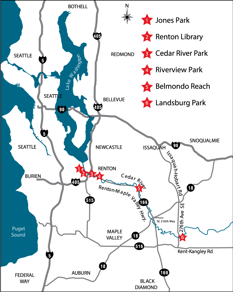 Cedar River location map