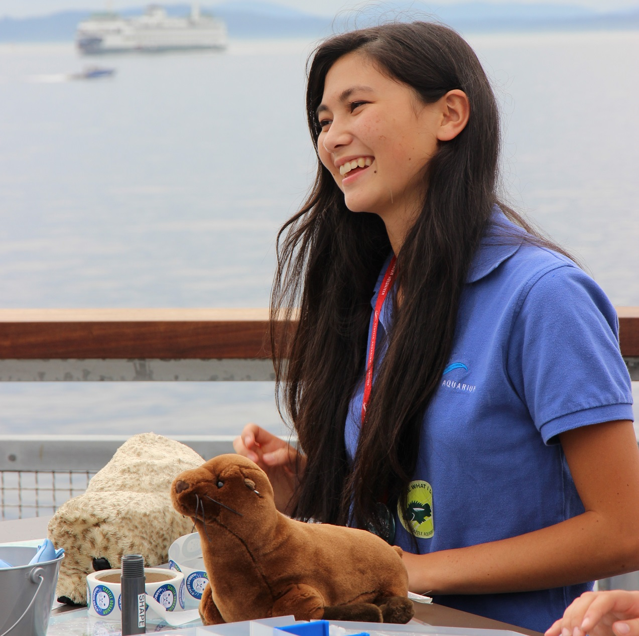 Seattle Aquarium volunteer