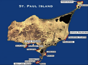 Map of St. Paul Rookeries courtesy of NOAA