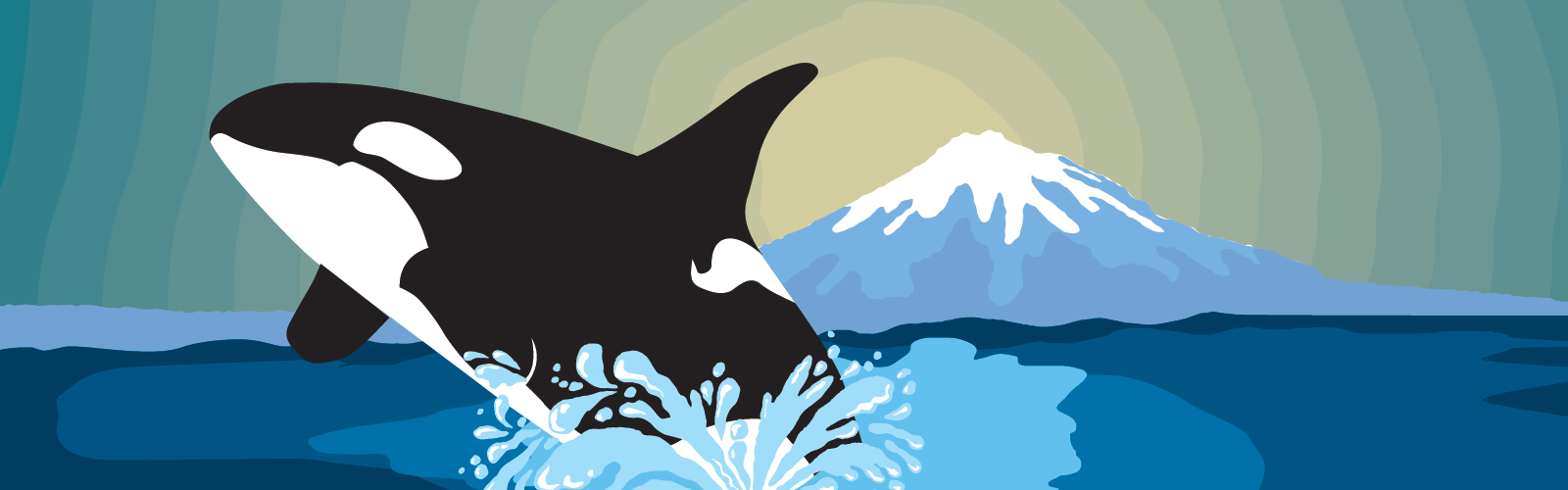 Orca Awareness weekend poster featuring graphic of an orca