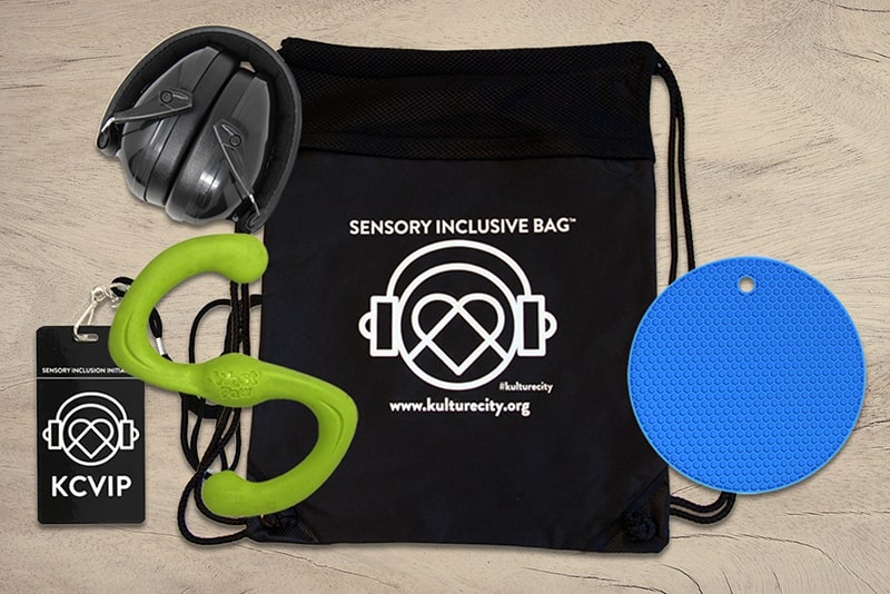 KultureCity sensory inclusive bag and contents.