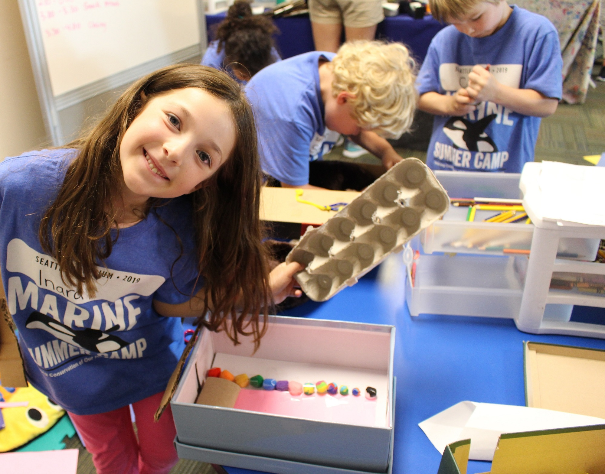 A camper shows her shoebox sea otter home