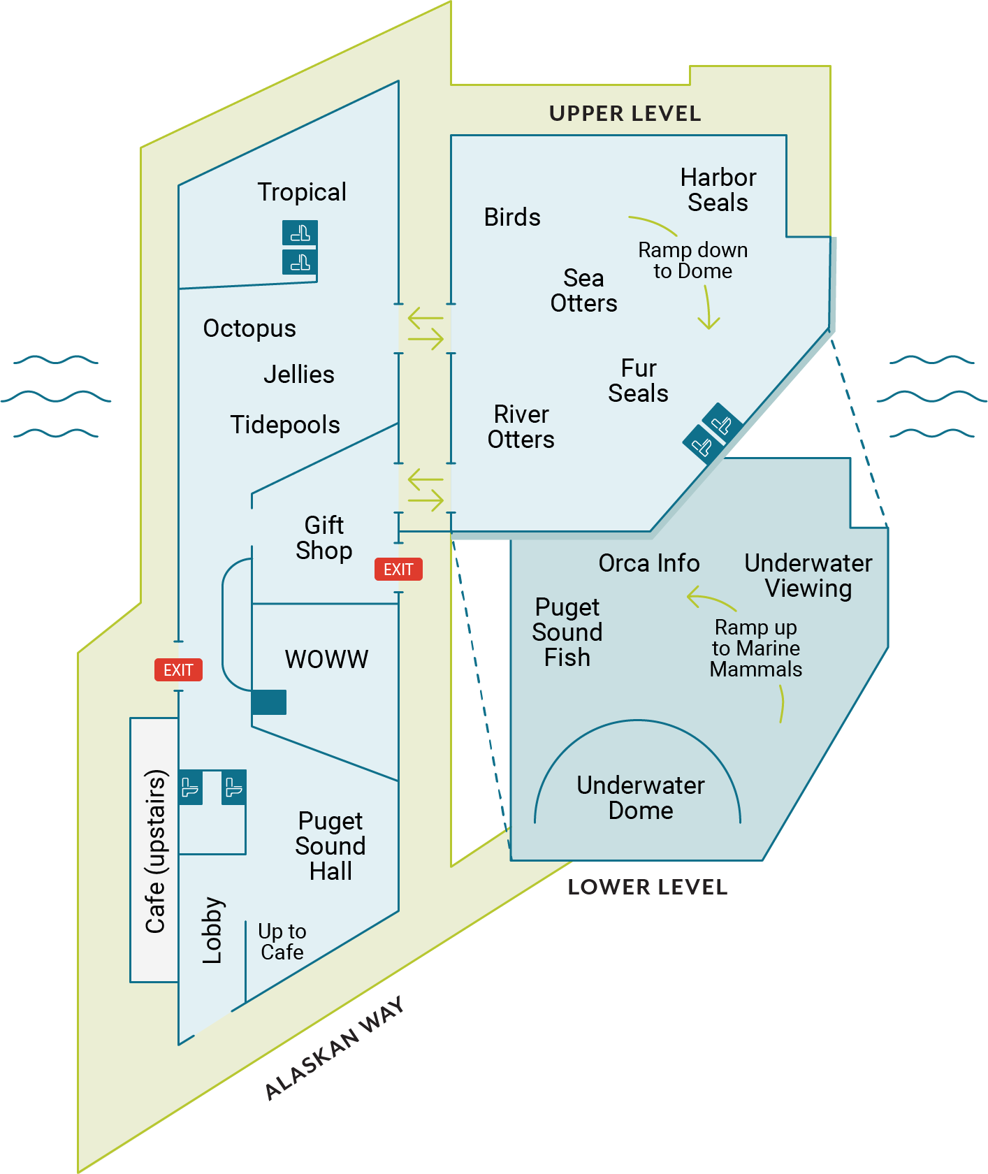 Seattle Aquarium map