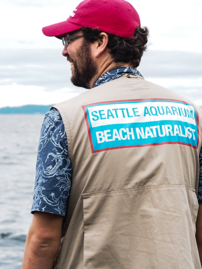 Naturalist in octopus shirt