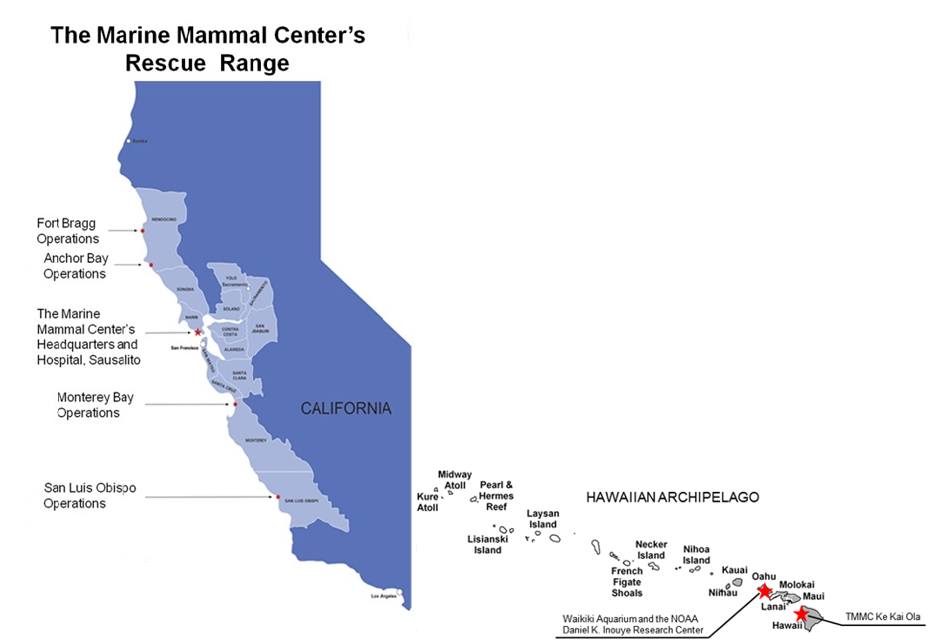 Maps © The Marine Mammal Center