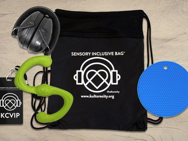 Sensory bag and included items.