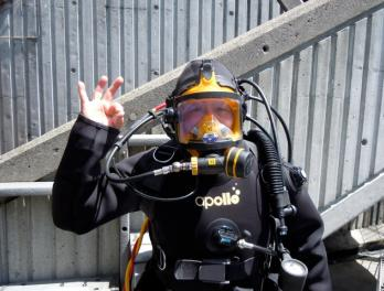 Orlay Johnson, Volunteer Diver at the Seattle Aquarium
