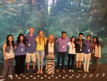 Members of the Seattle Aquarium's Youth Philanthropy Team