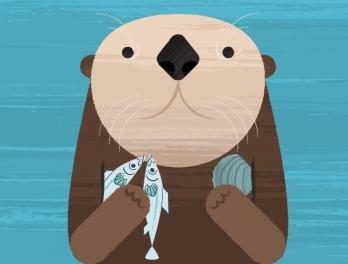 Sea otter graphic